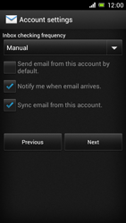 Sony Xperia J - E-mail - Manual configuration - Step 15