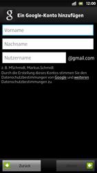 Sony Xperia S - Apps - Konto anlegen und einrichten - 7 / 21