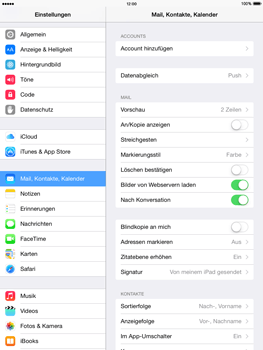 Apple iPad mini 2 - iOS 8 - E-Mail - Manuelle Konfiguration - Schritt 4