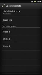 Sony Xperia S - Rete - Selezione manuale della rete - Fase 9