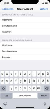 Apple iPhone X - E-Mail - Manuelle Konfiguration - Schritt 14