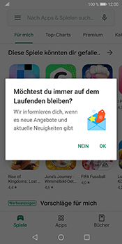 Huawei Mate 10 Pro - Android Pie - Apps - Einrichten des App Stores - Schritt 21