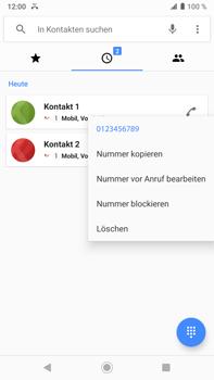 Sony Xperia XZ2 Premium - Android Pie - Anrufe - Anrufe blockieren - Schritt 5
