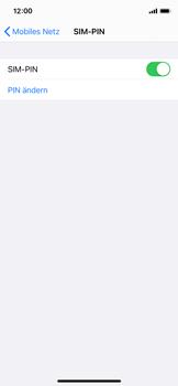 Apple iPhone X - iOS 14 - Startanleitung - So aktivieren Sie eine SIM-PIN - Schritt 8