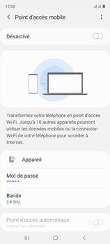 Samsung Galaxy A51 - Internet et connexion - Partager votre connexion en Wi-Fi - Étape 7
