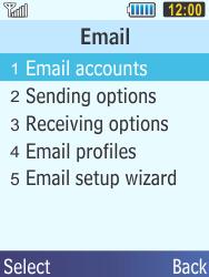 Samsung C3350 Xcover 2 - E-mail - Manual configuration - Step 8