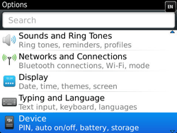 BlackBerry 9360 Curve - Settings - Configuration message received - Step 4