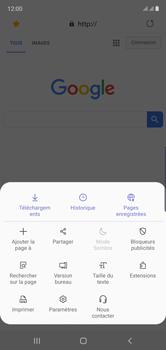 Samsung Galaxy Note 10 - Internet et roaming de données - Navigation sur Internet - Étape 20