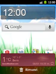 Samsung Galaxy Pocket - Operazioni iniziali - Installazione di widget e applicazioni nella schermata iniziale - Fase 6