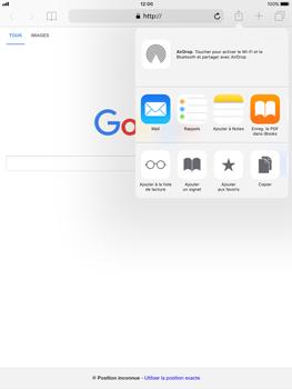 Apple iPad Pro 9.7 - iOS 11 - Internet - navigation sur Internet - Étape 16
