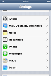 Apple iPhone 3GS - Applications - Configuring the Apple iCloud Service - Step 3