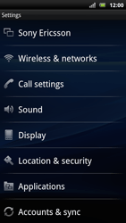 Sony Xperia Arc S - MMS - Manual configuration - Step 4