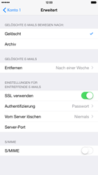 Apple iPhone 6 Plus - iOS 8 - E-Mail - Manuelle Konfiguration - Schritt 22