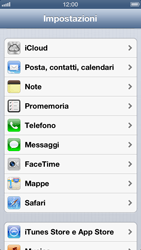 Apple iPhone 5 - Applicazioni - configurazione del servizio Apple iCloud - Fase 3