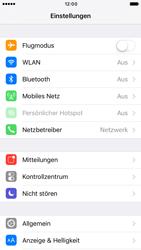 Apple iPhone 6 iOS 10 - Internet und Datenroaming - Prüfen, ob Datenkonnektivität aktiviert ist - Schritt 3