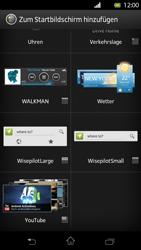 Sony Xperia T - Startanleitung - Installieren von Widgets und Apps auf der Startseite - Schritt 5