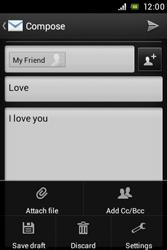 Sony C1505 Xperia E - E-mail - Sending emails - Step 11