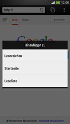 HTC One Mini - Internet und Datenroaming - Verwenden des Internets - Schritt 7