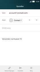 Huawei Y5 - E-mail - E-mail versturen - Stap 8