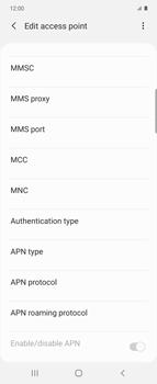 Samsung Galaxy Z flip - Internet and data roaming - Manual configuration - Step 15