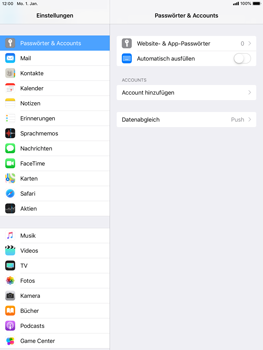 Apple iPad Mini 4 - E-Mail - Konto einrichten (outlook) - 4 / 12