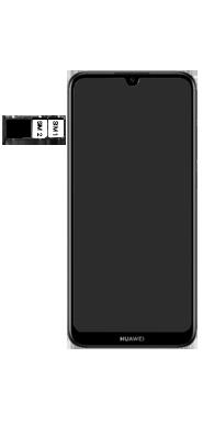 Huawei Y6 (2019) - Toestel - Simkaart plaatsen - Stap 6