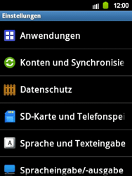 Samsung Galaxy Y - Gerät - Zurücksetzen auf die Werkseinstellungen - Schritt 5
