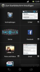Sony Xperia T - Startanleitung - Installieren von Widgets und Apps auf der Startseite - Schritt 4