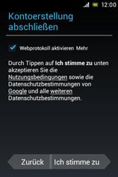 Sony Xperia Miro - Apps - Konto anlegen und einrichten - Schritt 11