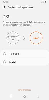 Samsung galaxy-a8-2018-sm-a530f-android-pie - Contacten en data - Contacten kopiëren van SIM naar toestel - Stap 11
