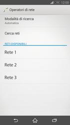 Sony Xperia Z3 Compact - Rete - Selezione manuale della rete - Fase 8