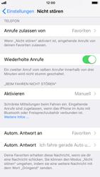 """Apple iPhone 8 - iOS 11 - Nicht stören – Sicheres Fahren – """"Do Not Disturb while Driving"""" aktivieren (für Fahrer) - 7 / 17"""