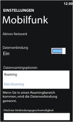 Nokia Lumia 610 - Ausland - Im Ausland surfen – Datenroaming - Schritt 8
