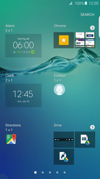 Samsung Galaxy S6 edge+ (G928F) - Getting started - Installing widgets and applications on your start screen - Step 5
