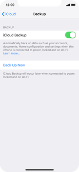 Apple iPhone XS - Data - Create a backup with your account - Step 12