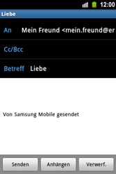 Samsung Galaxy Ace - E-Mail - E-Mail versenden - 2 / 2