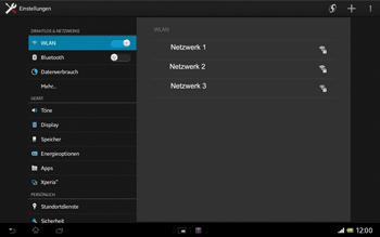 Sony Xperia Tablet Z LTE - WiFi - WiFi-Konfiguration - Schritt 5
