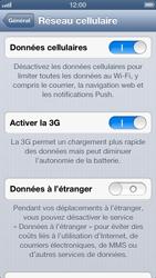 Apple iPhone 5 - Internet et roaming de données - Désactivation du roaming de données - Étape 6