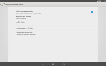 Sony Xperia Tablet Z2 LTE - Réseau - Sélection manuelle du réseau - Étape 6
