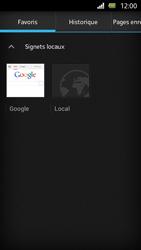 Sony Xperia U - Internet et roaming de données - Navigation sur Internet - Étape 10