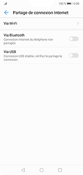 Huawei P20 lite - Internet et connexion - Utiliser le mode modem par USB - Étape 7