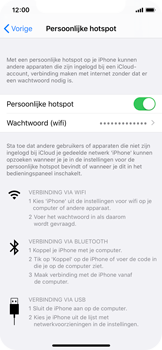 Apple iPhone X - iOS 13 - Internet - Stel mobiele hotspot in - Stap 8