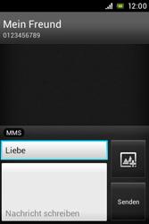 Sony Xperia E - MMS - Erstellen und senden - Schritt 14