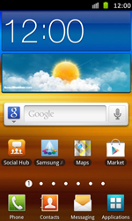 Samsung Galaxy S Advance - Applications - Setting up the application store - Step 1