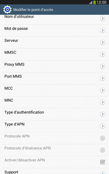 Samsung T315 Galaxy Tab 3 8-0 LTE - Internet - Configuration manuelle - Étape 15