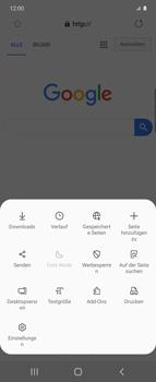 Samsung Galaxy Z flip - Internet und Datenroaming - Verwenden des Internets - Schritt 8