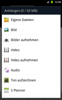 Samsung Galaxy Note - E-Mail - E-Mail versenden - 10 / 15