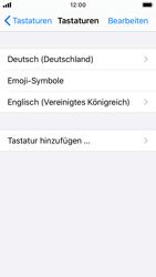 Apple iPhone SE - iOS 13 - Startanleitung - So fügen Sie eine Tastatursprache hinzu - Schritt 8