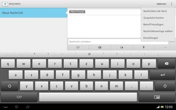 Sony Xperia Tablet Z LTE - MMS - Erstellen und senden - Schritt 12