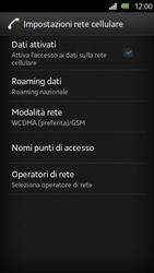 Sony Xperia U - Internet e roaming dati - Disattivazione del roaming dati - Fase 6